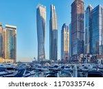 dubai marina daytime skyline in ... | Shutterstock . vector #1170335746