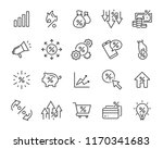 set of money line icons  such... | Shutterstock .eps vector #1170341683