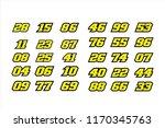 set of racing number  start... | Shutterstock .eps vector #1170345763