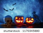 halloween holiday concept.... | Shutterstock . vector #1170345880