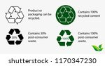 reduce reuse recycle concept.... | Shutterstock .eps vector #1170347230