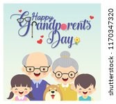 happy grandparent's day. photo... | Shutterstock .eps vector #1170347320