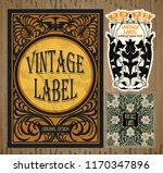 vector vintage items  label art ... | Shutterstock .eps vector #1170347896