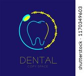 dental clinic logo icon tooth... | Shutterstock .eps vector #1170349603