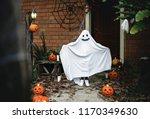 ghost costume for halloween...   Shutterstock . vector #1170349630