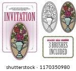 vector template. advertisements ... | Shutterstock .eps vector #1170350980