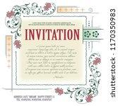 vector template flyer ... | Shutterstock .eps vector #1170350983