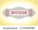 vector template flyer ... | Shutterstock .eps vector #1170350989