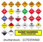hazmat hazardous material... | Shutterstock .eps vector #1170354460