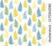 fern frond herbs  tropical... | Shutterstock .eps vector #1170362080