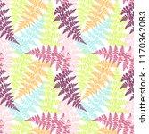 fern frond herbs  tropical... | Shutterstock .eps vector #1170362083