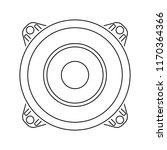 loudspeaker  icon. thin line... | Shutterstock .eps vector #1170364366