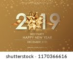happy new year 2019 winter... | Shutterstock .eps vector #1170366616