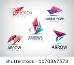 vector set of abstract logos ... | Shutterstock .eps vector #1170367573