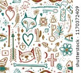 seamless pattern with magical... | Shutterstock .eps vector #1170372409