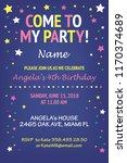 kids birthday party invitation... | Shutterstock .eps vector #1170374689