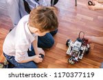 learning process in robotics... | Shutterstock . vector #1170377119