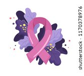composition of pink ribbon and... | Shutterstock .eps vector #1170378976