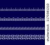 set of white lace ribbons on a... | Shutterstock .eps vector #1170381310