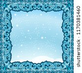 carved frame of ice for picture ... | Shutterstock .eps vector #1170381460