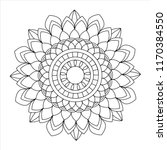flower mandala illustration.... | Shutterstock . vector #1170384550