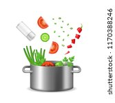 realistic detailed 3d food... | Shutterstock .eps vector #1170388246