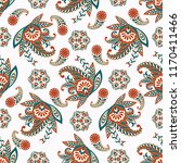 paisley seamless floral pattern.... | Shutterstock .eps vector #1170411466