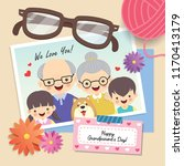 happy grandparent's day. photo...   Shutterstock .eps vector #1170413179