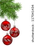 christmas background with fir... | Shutterstock .eps vector #117041434