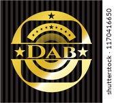 dab gold badge or emblem | Shutterstock .eps vector #1170416650