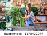 picture of young florist...   Shutterstock . vector #1170422299