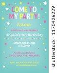happy birthday invitation... | Shutterstock .eps vector #1170426229