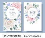 vector vintage wedding... | Shutterstock .eps vector #1170426283