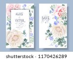 vector vintage wedding... | Shutterstock .eps vector #1170426289