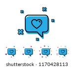 heart in speech bubble line... | Shutterstock .eps vector #1170428113