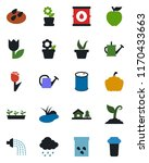 color and black flat icon set   ... | Shutterstock .eps vector #1170433663