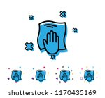 cleaning cloth line icon. wipe... | Shutterstock .eps vector #1170435169