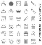 thin line vector icon set   pan ... | Shutterstock .eps vector #1170438439