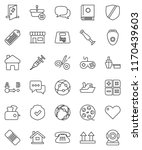 thin line vector icon set  ... | Shutterstock .eps vector #1170439603