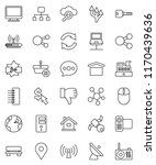 thin line vector icon set  ... | Shutterstock .eps vector #1170439636
