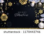 glam christmas cadr with white... | Shutterstock .eps vector #1170443746