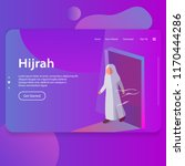 hijrah illustration of islamic...