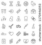 thin line vector icon set  ... | Shutterstock .eps vector #1170446053
