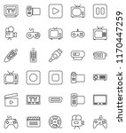 thin line vector icon set  ... | Shutterstock .eps vector #1170447259