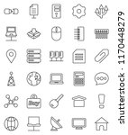 thin line vector icon set  ... | Shutterstock .eps vector #1170448279