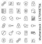 thin line vector icon set  ... | Shutterstock .eps vector #1170448756