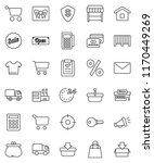 thin line vector icon set  ... | Shutterstock .eps vector #1170449269