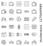thin line vector icon set  ... | Shutterstock .eps vector #1170449989