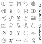thin line vector icon set  ... | Shutterstock .eps vector #1170450169