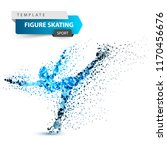 woman figure skating on the... | Shutterstock .eps vector #1170456676